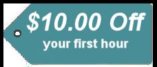$10 off first massage!